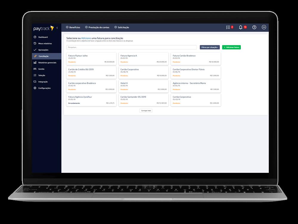 sistema e aplicativo de gestão de despesas